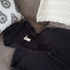 New! Mossimo black lace-up lightweight hoodie